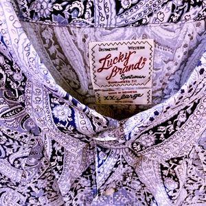 Lucky Brand paisley shirt